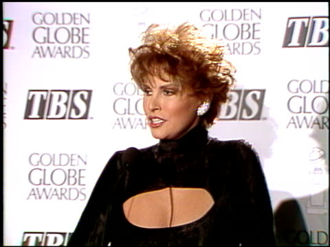 Raquel Welch at the 1992 Golden Globe Awards at the Beverly Hilton in Beverly Hills California on January 18 1992