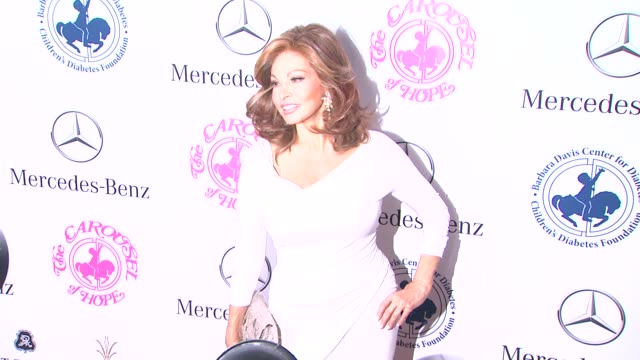 Raquel Welch at The 2014 Carousel Of Hope Ball at The Beverly Hilton Hotel on October 11 2014 in Beverly Hills California