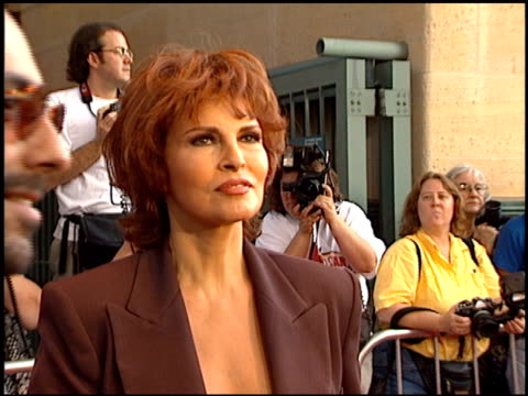 Raquel Welch at the 'A Walk In The Clouds' Premiere at the Los Angeles County Museum of Art in Los Angeles California on August 8 1995