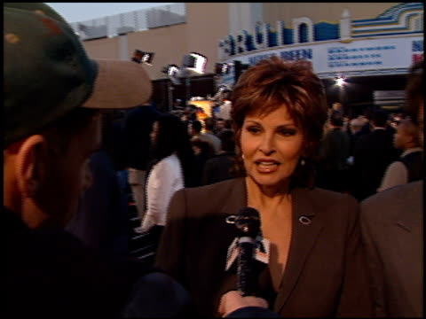 Raquel Welch at the 'Life' Premiere at the Mann Village Theatre in Westwood California on April 14 1999