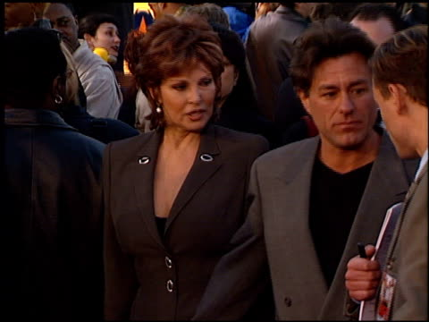 raquel welch at the 'life' premiere at the mann village theatre in westwood california on april 14 1999 - raquel welch stock videos & royalty-free footage