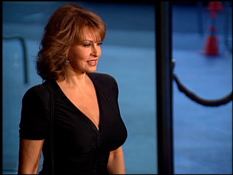 raquel welch at the 'tortilla soup' premiere at dga theater in los angeles california on august 14 2001 - dga theater stock videos & royalty-free footage