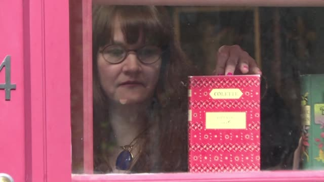 rare bookstore in london specialising in works by women aims to redress the gender imbalance in western literature - book shop stock videos & royalty-free footage