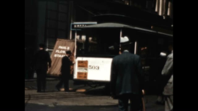 rare color home movie of market street in san francisco in the late 1930's - 1930 1939 stock videos & royalty-free footage
