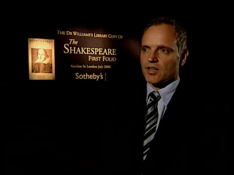 rare first folio edition of shakespeare plays goes on sale at sotheby's england london sotheby's auctioneers closeups of first folio edition of... - william shakespeare stock videos & royalty-free footage