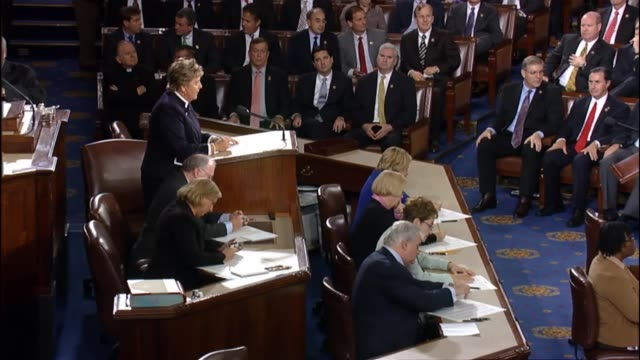 vídeos de stock, filmes e b-roll de a rare midsession election for speaker of the house is conducted by roll call vote members respond viva voce - legislação