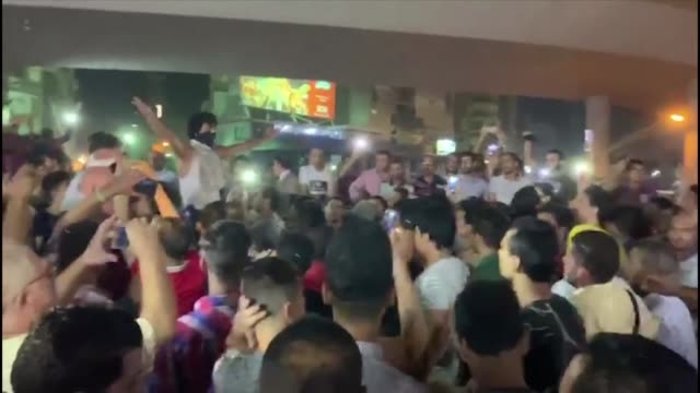 rare small protests break out in cairo and other egyptian cities like in those images from the city of al mahallah al kubra calling for the removal... - egypt stock videos & royalty-free footage