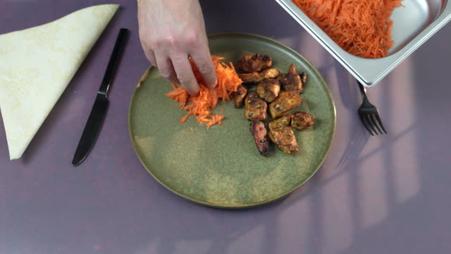 ras el hanout chicken and carrot - grated stock videos & royalty-free footage