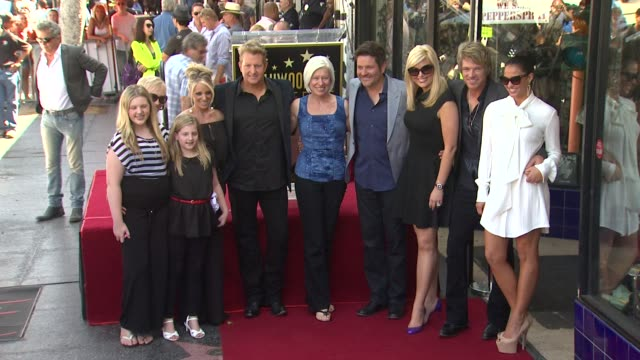 rascal flatts and family at rascal flatts honored with star on the hollywood walk of fame on 9/17/12 in hollywood ca - rascal flatts stock videos & royalty-free footage