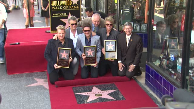 rascal flatts at rascal flatts honored with star on the hollywood walk of fame on 9/17/12 in hollywood ca - rascal flatts stock videos & royalty-free footage