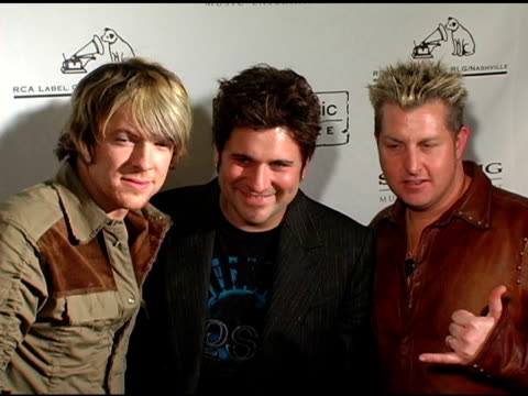 rascal flatts at the 2005 country music awards after party hosted by sony bmg at gotham hall in new york new york on november 15 2005 - rascal flatts stock videos & royalty-free footage