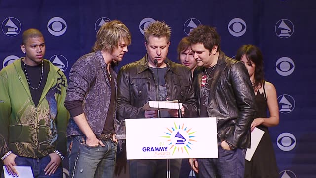 rascal flatts at the 2006 grammy awards nominations announcement at music box @ the fonda in hollywood california on december 7 2006 - rascal flatts stock videos & royalty-free footage