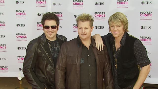 rascal flatts at the 2007 people's choice awards arrivals at the shrine auditorium in los angeles california on january 9 2007 - rascal flatts stock videos & royalty-free footage