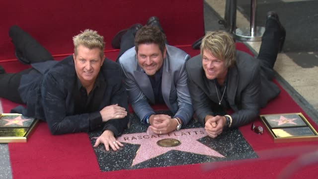 rascal flatts honored with star on the hollywood walk of fame event capsule clean rascal flatts honored with st at hollywood walk of fame on... - rascal flatts stock videos & royalty-free footage