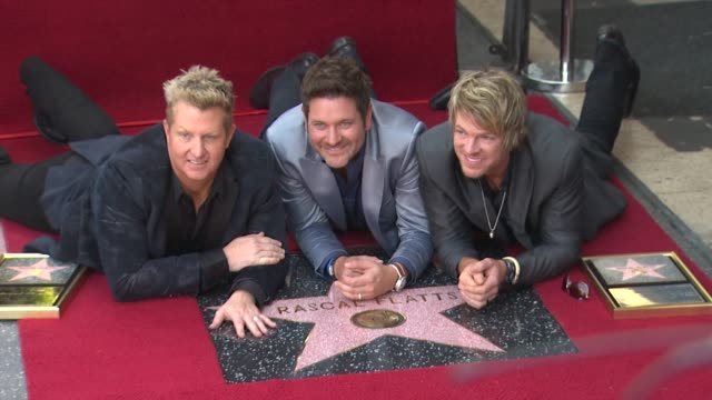 rascal flatts honored with star on the hollywood walk of fame event capsule chyron rascal flatts honored with s at hollywood walk of fame on... - rascal flatts stock videos & royalty-free footage