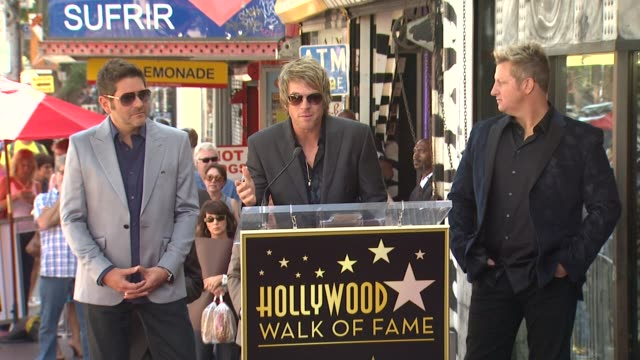 rascal flatts on being humbled at receiving a star and on all of the support that they've received from their families over the years at rascal... - rascal flatts stock videos & royalty-free footage