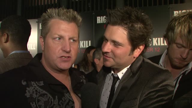 rascal flatts on what brings them out tonight being fans of both mr pacino mr deniro what they think about them working together after all these... - rascal flatts stock videos & royalty-free footage