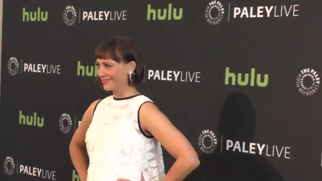 rashida jones at the paleylive an evening with angie tribeca at paley center for media in beverly hills in celebrity sightings in los angeles, - paley center for media los angeles stock videos & royalty-free footage