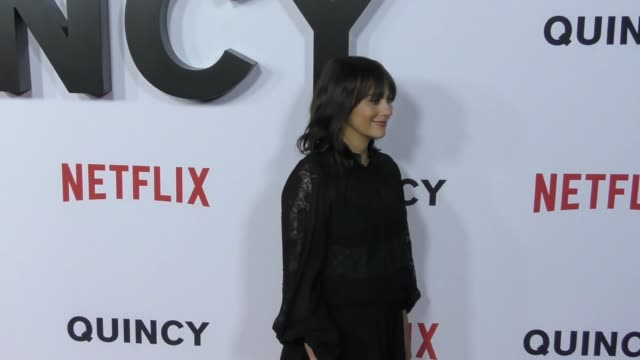 Rashida Jones at the premiere of 'Quincy' from Netflix at the Linwood Dunn Theater in Hollywood at Celebrity Sightings in Los Angeles on September 14...
