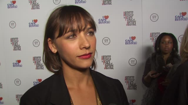 Rashida Jones on Artists for Peace and Justice on if she's been to Haiti on how effective relief efforts have been so far on how we keep people...
