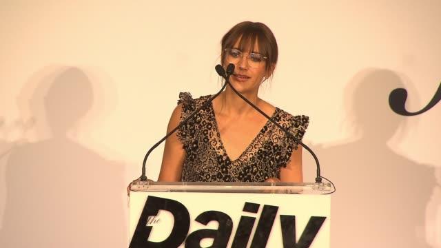 SPEECH – Rashida Jones presents award to Opening Ceremony founders Carol Lim and Humberto Leon at Daily Front Row's Fashion Media Awards at Four...