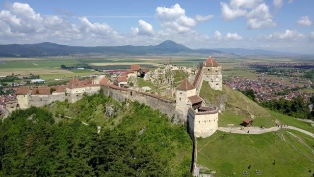 Rasnov Citadel aerial, Romania