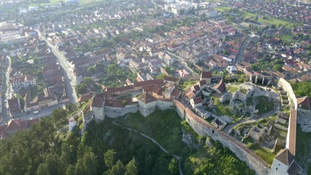 rasnov citadel, romania - transilvania video stock e b–roll