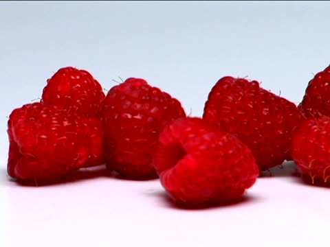 raspberries - medium group of objects stock videos & royalty-free footage