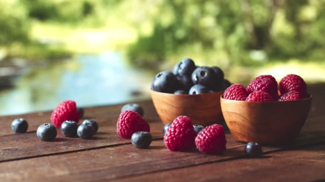 raspberry and blueberry - antioxidant stock videos & royalty-free footage