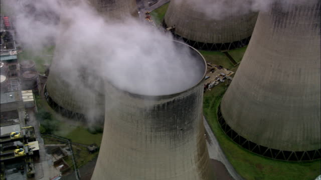 Ratcliffe On Soar Power Station  - Aerial View - England, Leicestershire, United Kingdom