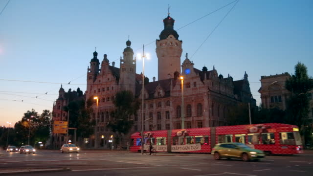 rathaus, town hall, leipzig, saxony, germany - rathaus stock videos & royalty-free footage