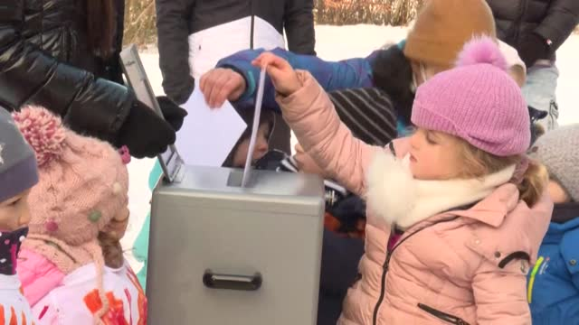 rather than playing house or building blocks, a few dozen swiss preschoolers line up to cast their ballots in a vote that will shape lives in the... - imagination stock videos & royalty-free footage