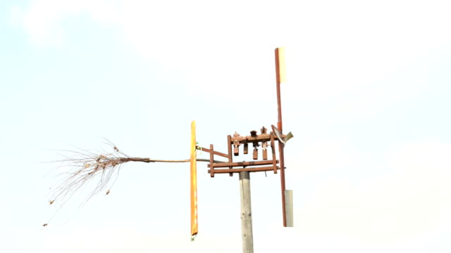 Rattle operated by wind