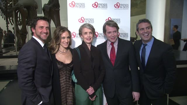raul esparza sarah jessica parker cynthia o'neal matthew broderick and andy cohen at the a little jurassic treasure hunt a 20th anniversary benefit... - cynthia parker stock videos & royalty-free footage