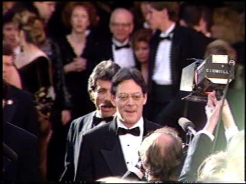 stockvideo's en b-roll-footage met raul julia at the 1991 academy awards at the shrine auditorium in los angeles california on march 25 1991 - 1991