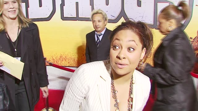 Raven Symone with a quick hello on loving WireImage at the 'Wild Hogs' Premiere at the El Capitan Theatre in Hollywood California on February 27 2007