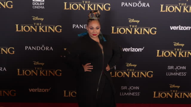 RavenSymoné at the World Premiere of Disney's The Lion King at Dolby Theatre on July 09 2019 in Hollywood California