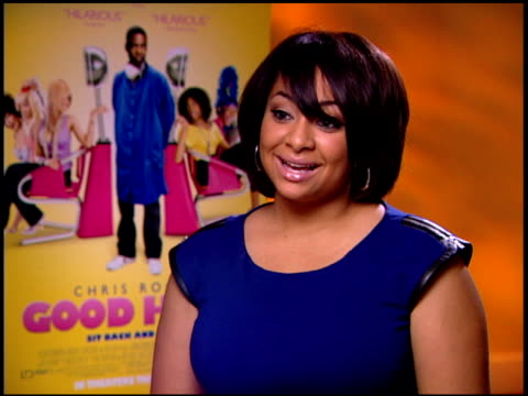 RavenSymoné on looking into her own hair line at the 'Good Hair' Junket at Beverly Hills CA