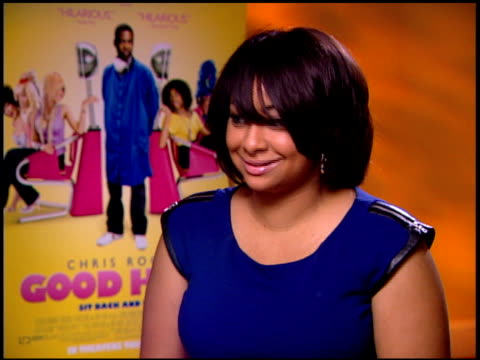 RavenSymoné on men waiting at the salon all day at the 'Good Hair' Junket at Beverly Hills CA