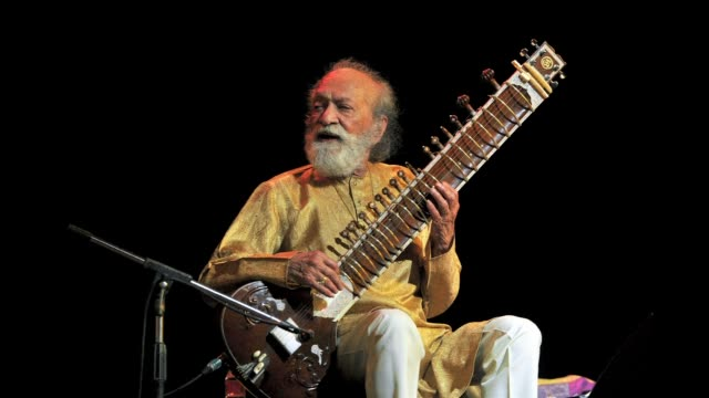 ravi shankar who died aged 92 is the worlds most famous sitar player popularising classical indian music abroad largely through his work with the... - george harrison stock videos & royalty-free footage