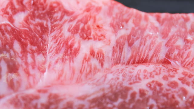 vídeos de stock e filmes b-roll de raw beef meat already prepare for steak grill - formato bruto