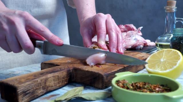 Raw chicken cooking