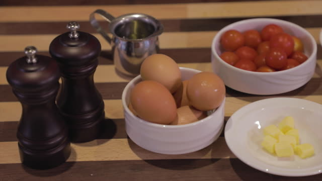 raw food - omelet ingredients - cheese stock videos & royalty-free footage