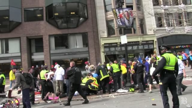 raw footage from steve silva of the boston marathon aftermath april 15 2013 in boston massachusetts - bombing stock videos & royalty-free footage