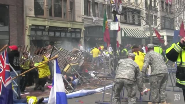 raw footage from steve silva of the boston marathon aftermath matches full video on bostoncom from boston marathon explosion and aftermath pt 2 on... - bombing stock videos & royalty-free footage
