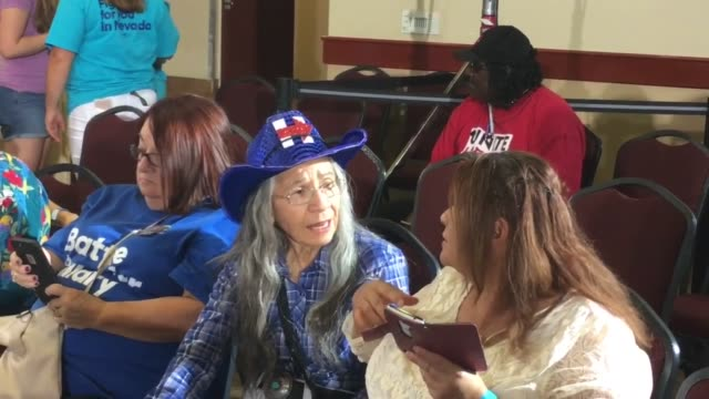 Raw footage of Hillary Clinton at a voter registration event today in Las Vegas