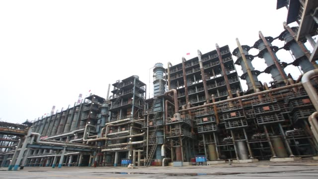 Raw material reaction production line of chemical enterprises