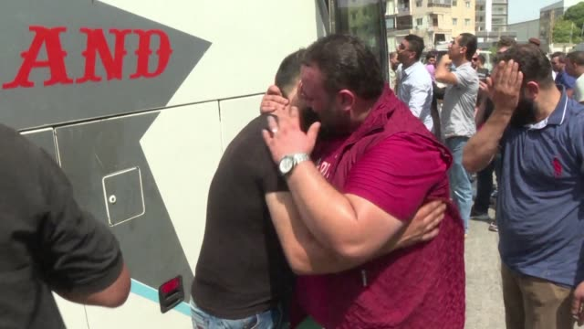 rawad kurdi is among several thousand syrians making an emotional journey home from lebanon where they sought safety from the war that has ravaged... - lebanon country stock videos & royalty-free footage