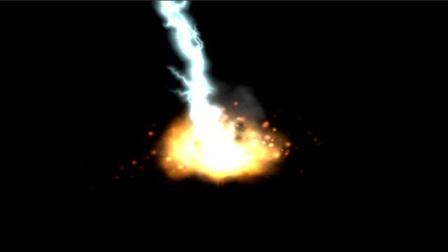 燃える土壌線 - sparks点の映像素材/bロール