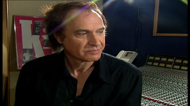 ray davies kinks songwriter and musician interview; tamzin sylvester asking question sot - when you get an award like this, it must invite a certain... - songwriter stock videos & royalty-free footage